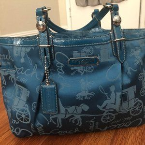Coach Sapphire Horse and Buggy Bag